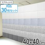 吸音パネル フェルメノン マグネット付 40×40cm 45度カットタイプ 30枚セット ( 防音 吸音 パネル )