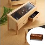 ショッピング場所 コレクションケース 木製 ワイドジュエルM 幅44cm ( アクセサリー ケース 収納 ボックス ジュエリー スタンド BOX 木製 高級感 )