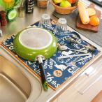 Yahoo!リビングート ヤフー店吸水水切りマット Nekosulu ネコスル Laidback Cat 40×50 ( 水切り用品 食器洗い ディッシュラック )|新商品|08