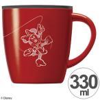 ショッピングマグカップ マグカップ カフェマグ ミニーマウス 真空断熱構造 ステンレス製 330ml フタ付き ( キャラ 保温 保冷 ステンレスマグカップ )