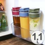冷水筒 スリムジャグ 1.1L 横置き 縦置き 耐熱 日本製 ( ピッチャー 麦茶 冷水ポット 麦茶ポット )
