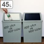 ゴミ箱 分別 積み重ねゴミ箱 ワイド 45リットル ( ごみ箱 ふた付き ダストボックス スタッキング )
