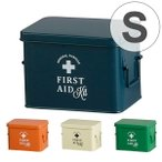 ファーストエイドボックス 救急箱 S ( 薬箱 おしゃれ アンティ−ク )