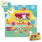 パズル ねこ 16ピース ジクゾーパズル 幼児 知育玩具 おもちゃ ジェコ アイスクリームトラック ( 3歳 子ども オモチャ ジェコ DJECO )