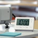 置き時計 目覚まし時計 消音機能 ライト デジタル 連続秒針 タイマー ( 時計 置時計 インテリア 雑貨 )
