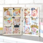 フォトフレーム 12か月 壁掛け 卓上 12枚 ANNO 写真立て 赤ちゃん ( 写真 額 多面 壁掛 正方形 月齢フォト フォト フレーム )
