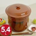 漬物容器 切立かめ 3号 5.4L 蓋付き 陶器 ( 漬物樽 つけもの容器 漬け物容器 )