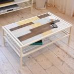 ショッピングused センターテーブル ローテーブル CHROME 天然木 スチールフレーム 幅90cm ( テーブル コーヒーテーブル 木製天板 アイアンフレーム )