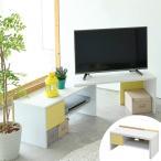 テレビ台 伸縮タイプ カジュアルデザイン clovis 幅80〜138cm ( テレビボード ローテーブル リビングボード 伸縮テレビ台 薄型テレビ台 )
