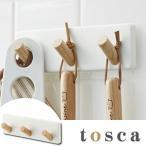 マグネットフック マグネット3連フック トスカ tosca キッチンフック 磁石 ( キッチンツール 収納 吊り下げ 小物掛け )