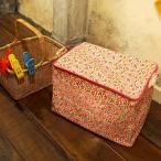 HOKUORU ストレイジバッグ スクエア型 パラダイス ( 脱衣かご 洗濯かご おもちゃ入れ ふた付き )