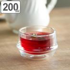 保温効果の高い耐熱ガラス製ダブルウォールカップ