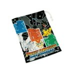 ■在庫限り・入荷なし■キャラクター コップ袋 ポケットモンスター ベストウィッシュ 子供用 ( ブラック ホワイト BW ポケモン )
