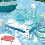 ピクニックテーブル レジャーテーブル 連結可能 カップホルダー4人分付き ( ハンディテーブル 折りたたみ テーブル )
