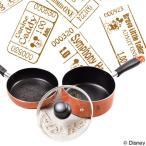 片手鍋&フライパンセット 18cm ディズニー ミッキーマウス チケット フッ素加工 IH対応 ( ふっ素加工 ガラス蓋付き )