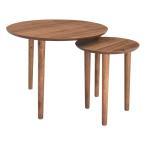 ラウンドネストテーブル トムテ ( コーヒーテーブル サイドテーブル リビングテーブル センターテーブル )