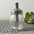調味料入れ シュガーディスペンサー シュガーポット 丸型 175ml ガラス製 ( 砂糖入れ 砂糖つぼ 調味料容器 )
