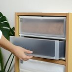 ショッピングカラー 収納ケース ポスデコ ワイドサイズ 深型2段 カラーボックス用 ( 収納ボックス カラーボックス インナーボックス )