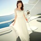 マキシワンピース シフォンワンピース ドレス マキシ丈ワンピース 通勤 結婚式 白 ホワイト 春 ロング ノースリーブ マキシワンピ ワンピース レディース skirt
