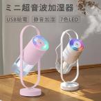 加湿器 投影加湿器 超音波式 持ち運び便利 ミニ加湿器 室内 車載用 USB給電 空気浄化機 七色LEDライト 新しいデザイン