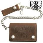 ラッキー13 LUCKY13 三つ折り財布 ウォレットチェーン メンズ