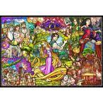 ディズニー1000ピース  塔の上のラプンツェル ストーリーステンドグラス【ピュアホワイト】(51×73.5cm)(DP-1000-036)【ディズニーパズル】