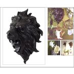 本格派!壁掛けアニマルオブジェ/ライオン(大)/獅子/頭♯剥製/骨壁掛/オブジェ標本