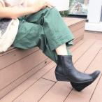 【本革】イングマニア ing mania 防水レザーショートブーツ (ブラック)