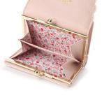 プリムヴェールリズリサ Primevere LIZ LISA サボン 配色スカラップがま口折財布 (ピンク)