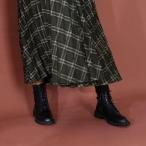 セレンセクール Serene ce cool タンクソールレースアップブーツ (ブラック)