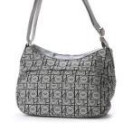 サボイ SAVOY ジャガード織・サボイロゴ幾何学柄のバッグ (グレー)