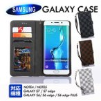 送料無料 ギャラクシー S8 ケース 手帳型 s8 PLUS ケース カバー 手帳 チェック柄 ギャラクシー S7 S7 エッジ S6 エッジ カード収納 手帳 財布 ケース