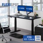 FLEXISPOT スタンディングデスク 電動式昇降デスク 組立簡単(ネジ六本だけ) 高さ調節パソコンデスク140*70cmテーブルE6B (脚ブラック天板ブラック)