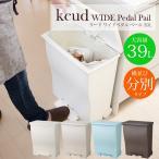 ショッピングごみ箱 kcud ワイドペダルペール 45L ゴミ箱 ごみ箱 ダストボックス ごみばこ おしゃれ ふた付き 分別 45リットル袋可 インテリア雑貨 北欧 キッチン 大容量