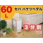 セパ スリムペダル 60L ホワイト 3分別 シンプル ゴミ箱<br />分別 ぶんべつ ペダル式 抗菌効果 抗菌 清潔 丸洗い ごみばこ ごみ箱