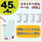 ゴミ箱 スライドペダルペール 45L ブラック・ブラウン・グリーン・レッド (分別 大容量) (ごみ箱 ごみばこ ダストボックス おしゃれ ふた付き 38 薄型)