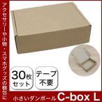 ダンボール 段ボール 小型ダンボール C-BOX L 160×120×45 30枚セット ダンボール ダンボール ギフトボックス アクセサリー スマホケース 小物