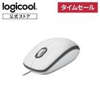 ロジクール 有線 マウス 小型 左右対称型 USB 簡単接続 M100rWH ホワイト 国内正規品