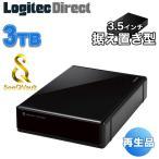 再生品 エレコム 3.5インチ SeeQVault対応 外付けHDD ハードディスク 3TB ELD-QEN030UBK-YY