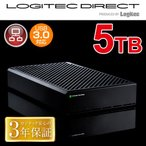 ショッピングロジテックダイレクト 外付けHDD 大容量モデル WD Red搭載 USB 3.0/eSATA 外付けハードディスク5TB LHD-EG50TREU3F