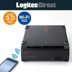 HDDケース Wi-Fi対応 USB3.0 フロントローディングタイプ ハードディスクケース ブラック ロジテック LHR-DS05WU3BK