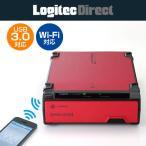 LHR-DS05WU3RD Wi-Fi対応 USB3.0 フロントローディングタイプ HDDリーダー/ライター(レッド)