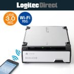 HDDケース Wi-Fi対応 USB3.0 フロントローディングタイプ ハードディスクケース シルバー ロジテック LHR-DS05WU3SV