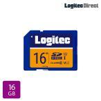 メール便送料無料 SDカード 16GB ドライブレコーダー向け MLC採用高耐久SDメモリーカード ロジテック LMC-SD16G