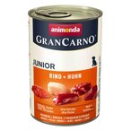 【正規輸入品】アニモンダ グランカルノ ウェット ジュニア 牛肉と鶏肉 犬用 400g