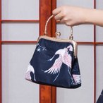 ロリータ アジアンテイストバッグ バッグのみ 和風 中華風 Qiloli 鶴 鳥 小物 ハンドバッグ