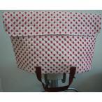 防災頭巾カバー  防災ずきんカバー(子ども用・手提バック兼用)ピンク地にイチゴ柄