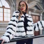 レディース 毛皮コート フェイクファーコート 長袖 ショート 無地 ゆったり 上着  大きいサイズ もこもこ  厚手 秋冬 アウター ジャケット 防寒 保温