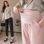 棉麻パンツ ワイドパンツ マタニティパンツ 妊娠パンツ ロングパンツ 大きいサイズ 産前産後 ゆったり レディースパンツ 美脚 ボトムス ウエスト調整 2色