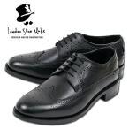 ウィングチップ 革靴 フルブローグ FULL BROGUE LEATHER SHOE グッドイヤーウェルト製法 BLACK